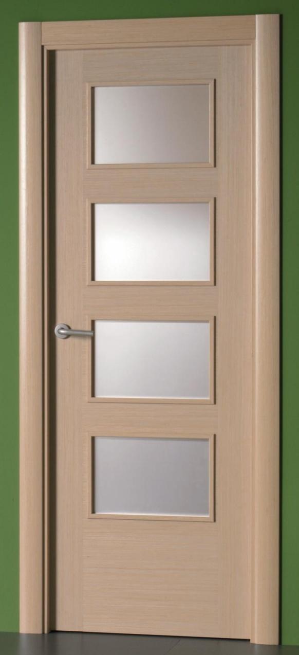 Puerta de interior en madera de roble con cristales 7314 SGR