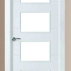 Puerta lacada en blanco modelo 8514 carpinntería La Forgaxa